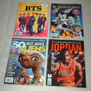 Lot of 4 collectible magazines - BTS, Disney, etc.